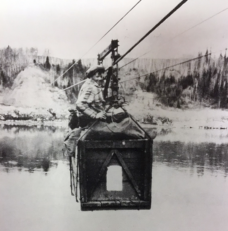 A mail basket at Nipawin - photo from Saskatchewan Archives