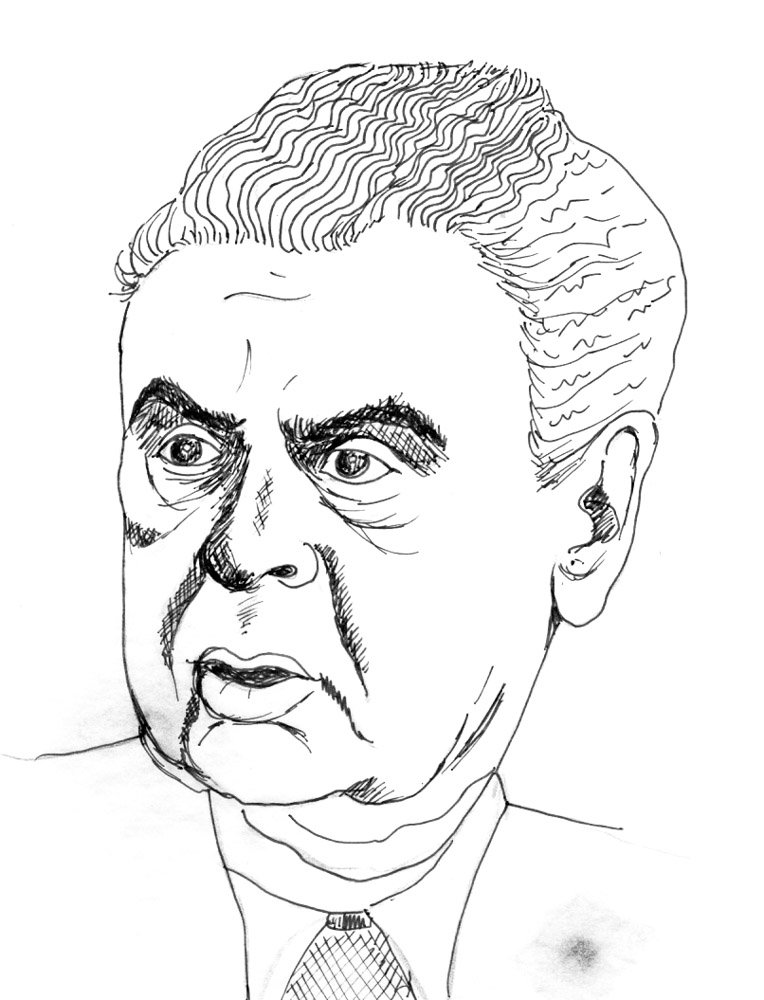 illustration of John Diefenbaker
