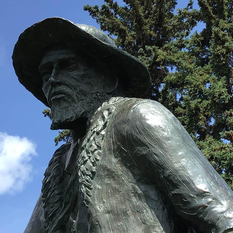 Statue of Metis leader Gabriel Dumont in a Saskatoon Park.