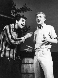 Two actors in play Picnic. At right is Eric Peterson.