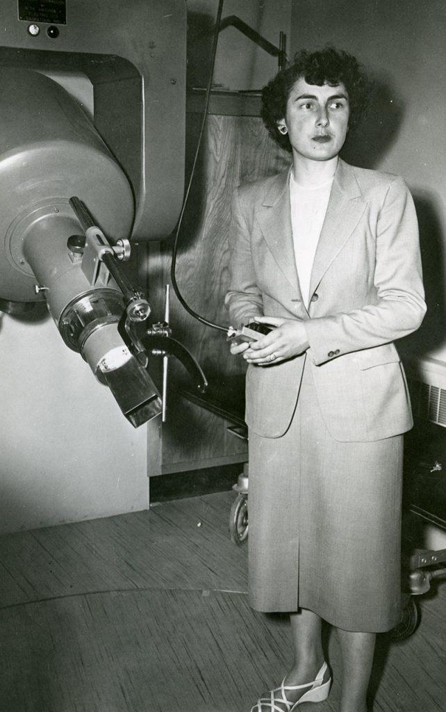 Sylvia Fedoruk with Betatron