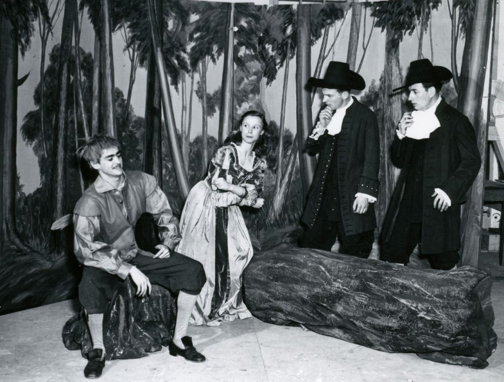 Frances Hyland in a university play.