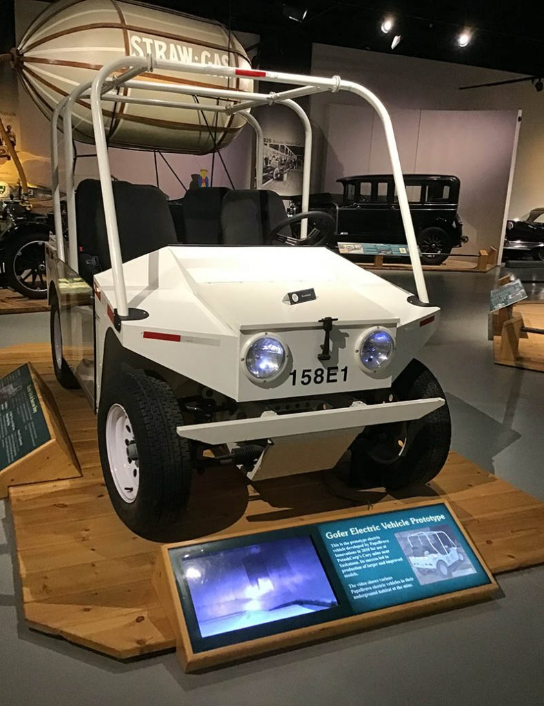 Gofer electric vehicle for use in mines