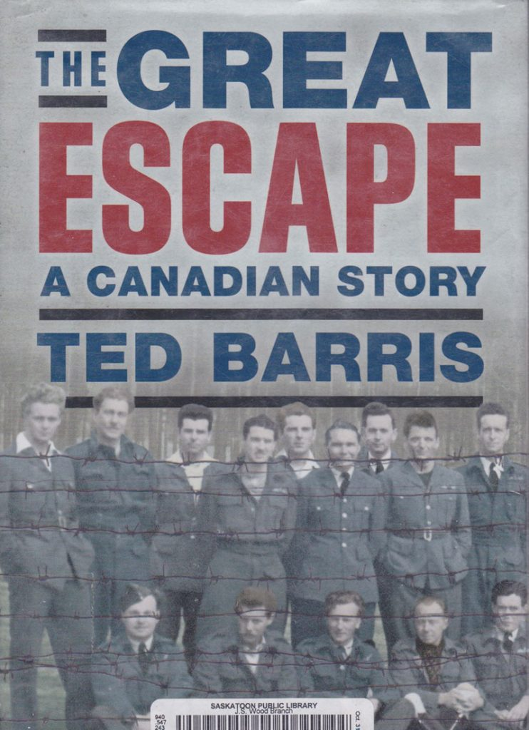 Book cover, Escape: A canadian Story.