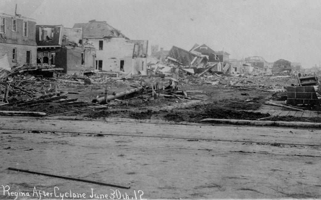 Regina after a cyclone cut a swath through the city on June 30, 1912