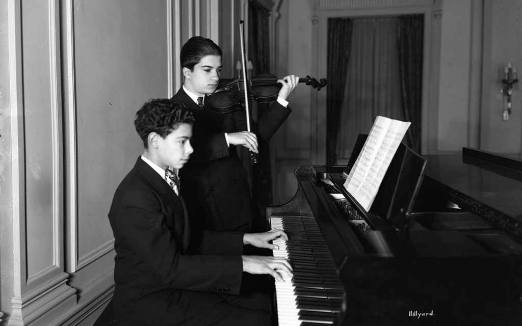 Two youthful classical musicians